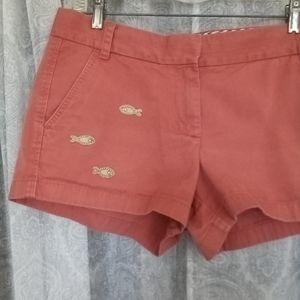 J. Crew Nantucket Red Fish Critter Shorts